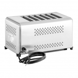 The Urban Kitchen 6-Slice Toaster - Elegant Design - Easy-Clean Crumb Trays - Made of Stainless Steel (40 x 22 x 22 cm)