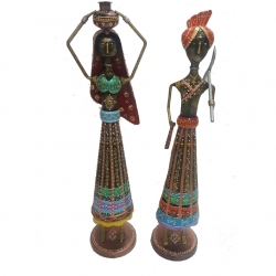 24 INCH - Center Table Dolls - Decorative Showpiece - Made Of Iron