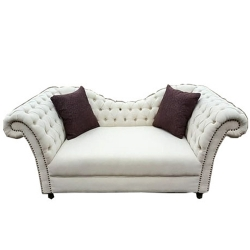 White Color - VIP Sofa - Rexine Sofa - Superior Quality Made of Wooden.
