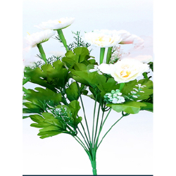 Height 16 Inch - Morifolium Bunch - AF - 561 - Leaf Bunch - White Color