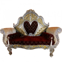 Brown Color - Heavy Premium Metal Jaipur Couches - Sofa - Wedding Sofa - Wedding Couches - Made Of High Quality Metal & Wooden