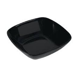 4 Inch - Square Bowls - Curry Bowls - Made Of Food-Grade Regular Plastic - Black Color