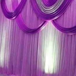10 FT X 15 FT - Designer Curtain - Parda - Stage Parda - Wedding Curtain - Mandap Parda - Back Ground Curtain - Side Curtain - Brite Lycra - Purpule Color