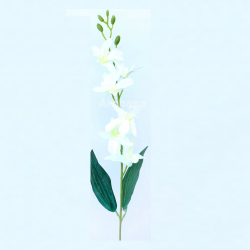24 Inch - Natural Orchid Artificial Flower Stick - Made Of Fabric & Plastic