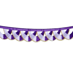 Purple & White Color - Jhalar - Mandap Jhalar For Wedding & Party - Made of Heavy Brite Lycra Cloth