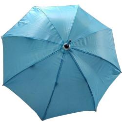 24 Inch Height & 28 Diameter - Umbrella Handicraft Walking Stick Umbrella - Sky Blue Color