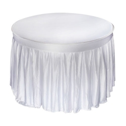 4 FT x 4 FT - Round Table Cover - Made of Premium Quality Chandni Cloth - White Chandni Color
