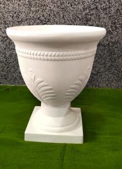 19 Inch Artificial Fiber Pot - Kundi For Wedding & Decoration White Color.