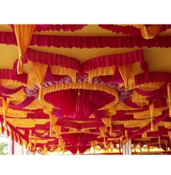 15 FT X 15 FT - Designer Mandap Ceiling Cloth - 14 KG Top Taiwan - 26 Gauge Brite Lycra Cloth - Multi Color
