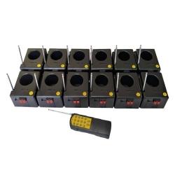 12 Way - Pcs Cold Fire Pyro Controller - Rimote Controller - Black Color