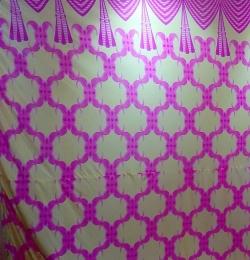 10 FT - Printed Brite Lycra Cloth - 24 Gauge - 120 Inch Panna - Multi Color