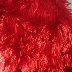 Teddy Bear Fur Roll - 54 Inch Panna - Decorative Cloth - Red Color