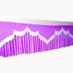 20 FT X 30 Inch - Table Cover Frill - Made Of Premium Lycra Quality - Purple  Color