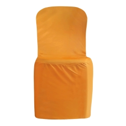 Lycra Cloth Chair Cover - Without Handle - For Plastic Chair - Armless - Mango Gold