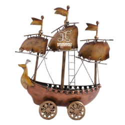 Fancy Decorative Ship Only Show Piece Not Working Royal Look ( Brown )