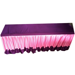 1.5 FT X 6 FT - Rectangular Table Cover - Made Of Brite Lycra - Pink & Purple Color