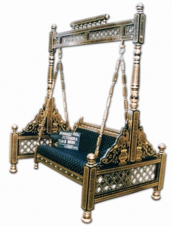 Sankheda Jhula - Wooden Swing - Made Of Premium Quality Wood - Golden Color