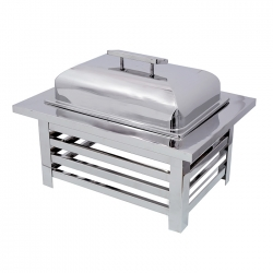 8 LTR - Chafing Dish - Hot Pot Dish - Garam Set - Buffet Set - Made Of Stainless Steel.