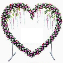 7 FT - Selfie Heart Shape Stand - Artificial Flower Stand - Multi Color