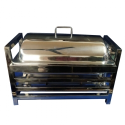 10 LTR - Chafing Dish Square Pipe - Hot Pot Dish - Garam Set - Buffet Set - Made Of Stainless Steel.