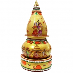 Decorative Kalash - Rukhwat Kalash - Pooja Kalash - Dori Work - Wedding Decoration.