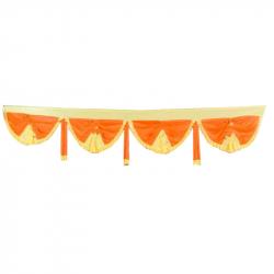 10 FT Designer Zalar - Scallop Zalar - Chain Scallop Zalar - Kantha - Jhalar - Made of 26 Gauge Lycra - Multi Color