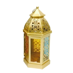 14 Inch - Decorative Lanterns - Hanging Lanterns - Khandil - Made of Iron.