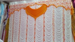 10 FT X 20 FT - Designer Curtain - Parda - Stage Parda - Wedding Curtain - Mandap Parda - Back Ground Curtain - Side Curtain - Made Of 28 Gauge Brite Lycra - Peach Color