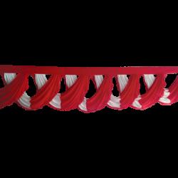 18 FT - Designer Jhalar - Scallop Jhalar - Chain Scallop Jhalar - Kantha - Jhalar - Made Of Lycra - Red & White Color