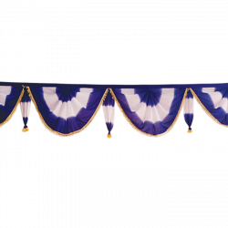 24 FT - Designer Zalar - Scallop Zalar - Kantha - Jhalar - Made Of Lycra Shaded - Violet & White Shaded Color