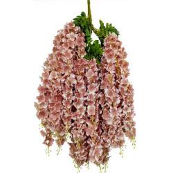 Height - 42 Inch - Hydrengea Wisteriya - Latkan - Flower Decoration - Artificial Latkan - Plastic Latkan - AF 1032 - 765 - Light Choclate Color - 1 Packet ( 12 Pieces )