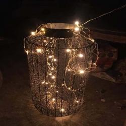 21 Inch - Decorative Lanterns - Hanging Lanterns - Khandil - Made of Iron.