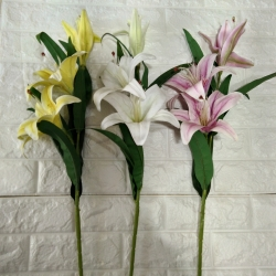 42 Inch - Artificial Flower Bunches - Fake Flowers Artificial Plant For Wedding - Rubber Flower - Home Decor - Multi Color