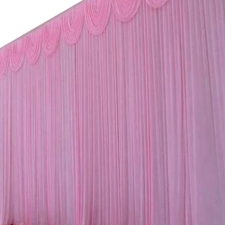 10 FT X 15 FT - Designer Curtain - Parda - Stage Parda - Wedding Curtain - Mandap Parda - Back Ground Curtain - Side Curtain - Brite Lycra - Pink Color