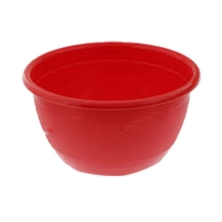 3.5 Inch Regular Round Bowl - Katori - Wati - Curry Bowls - Dessert Bowls - Made Of Food Grade Virgin Plastic - Red Color