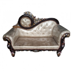 Golden Color - Regular Couches - Sofa - Wedding Sofa - Wedding Couches - Made Of Wooden & Metal