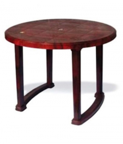 Nilkamal Meridian Dining Table - Color Rose Wood