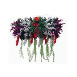 6 FT - Plastic Artificial Flower Panel - Flower Carry - Flower Decoration - Multi Color