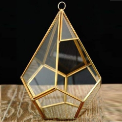 12 Inch - Decorative Lanterns - Hanging Lanterns - Khandil - Made of Iron & Glass