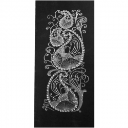 5 FT X 10 FT - Decoration Background Curtain - Entrance Decoration - Stage Decoration Cloth Made Of Velvet Fabric With Designing Of Moti Sitara Work - Black Color