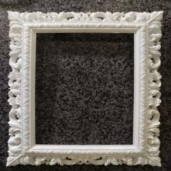 2 FT - Selfie Square Frame - Artificial Frame - Decoration - White Color