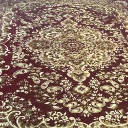 9 FT X 12 FT - Galicha - Carpet - Rugs - Dhurrie - Dari - Floor Mat - Satranji - Made Of Cotton - Brown Color