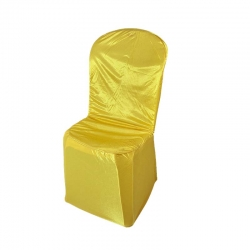 Chandni Chair Cover without Haldane For Plastic Chair Yellow Color.