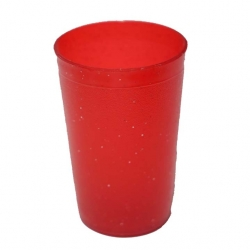 Small Glass - Plastic Glass - Drinking Glass - Plastic Serving Glass - Red Color.