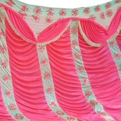 10 FT X 15 FT - Designer Curtain - Parda - Stage Parda - Wedding Curtain - Mandap Parda - Back Ground Curtain - Side Curtain - Made Brite Lycra - Multi Color