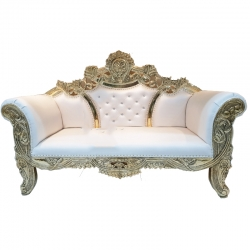White Colour - Udaipur - Rajasthani - Jaipuri - Heavy - Premium - Couches - Sofa - Wedding Sofa - Maharaja Sofa - Wedding Couches - Made of Wooden & Metal