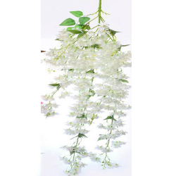 Height - 54 Inch - Artificial Chameli Hanging - Latkan - Flower Decoration - Artificial Hanging - AF 284 - White Color