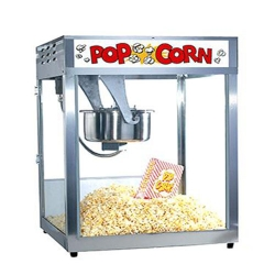 Small - Popcorn Machine - Gas - Popcorn Maker - Made Of Stainless Steel