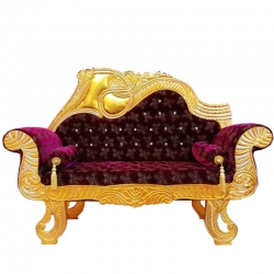 Maroon Color - Heavy Premium Metal Jaipur Couches - Sofa - Wedding Sofa - Wedding Couches - Made of High Quality Metal & Wooden  .