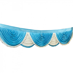 10 FT - Designer Zalar - Scallop Zalar - Chain Scallop Zalar - Kantha - Jhalar - Made of 26 Gauge Lycra - Multi Color